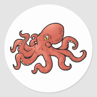 Giant Pacific Octopus Round Sticker