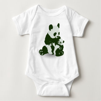 Giant Panda and Cub Baby Bodysuit