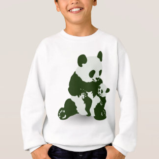 Giant Panda and Cub Sweatshirt