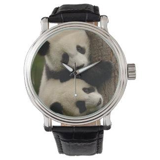 Giant panda babies (Ailuropoda melanoleuca) 2 Wrist Watches