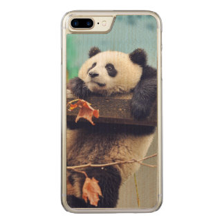 Giant panda baby over the tree carved iPhone 8 plus/7 plus case