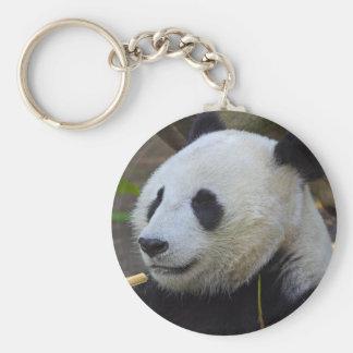 Giant Panda Basic Round Button Key Ring