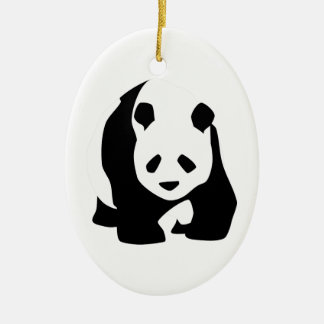 Giant Panda Bear Ceramic Oval Decoration