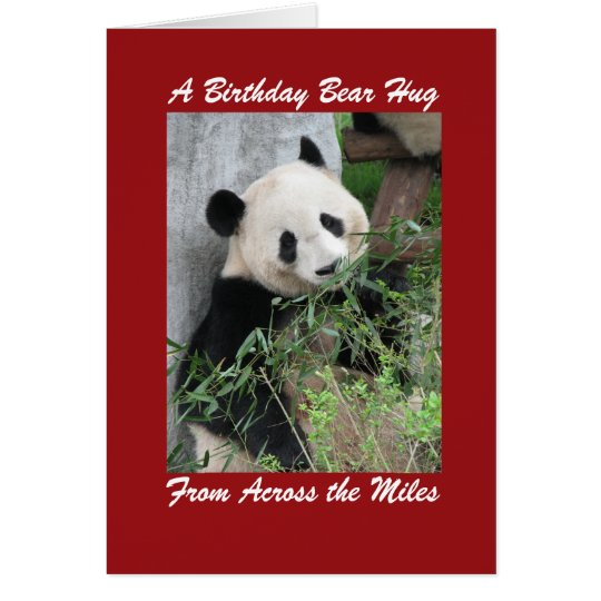 Giant Panda Birthday Bear Hug Across Miles Card