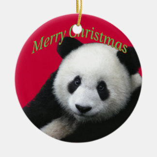Giant Panda Christmas Ornament