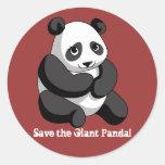 Giant Panda Classic Round Sticker