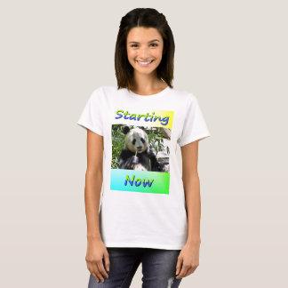 Giant Panda Eating Starting Now T-Shirt