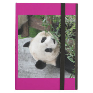Giant Panda, Hot Pink, Personalized Folio iPad Air Cover