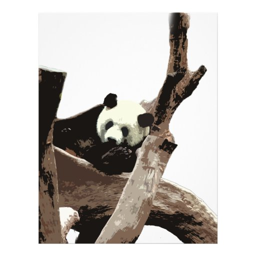 Giant panda in a wild animal zoo photography. personalized flyer