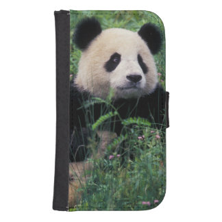 Giant panda in the grass, Wolong Valley, Sichuan Samsung S4 Wallet Case