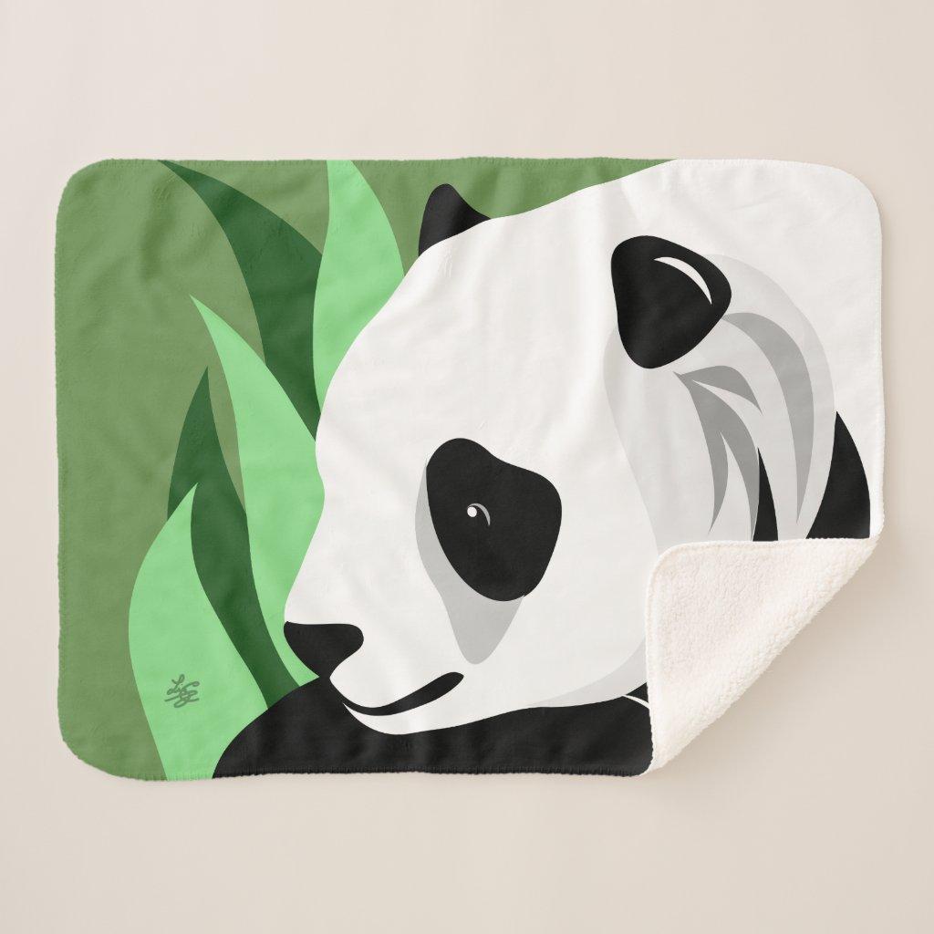 Giant Panda Lover Gifts Sherpa Blanket