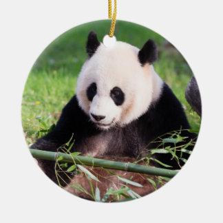 Giant Panda Mei Xiang Round Ceramic Decoration