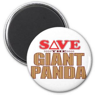 Giant Panda Save 6 Cm Round Magnet