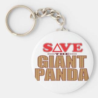 Giant Panda Save Basic Round Button Key Ring