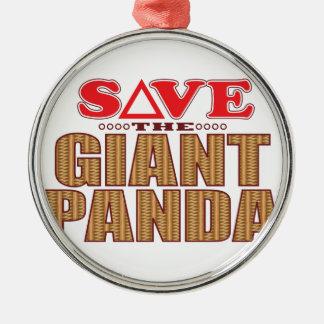 Giant Panda Save Christmas Ornament