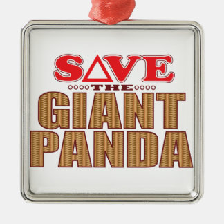 Giant Panda Save Christmas Ornament