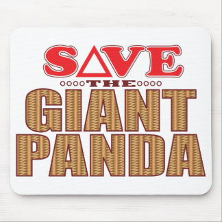 Giant Panda Save Mouse Pad