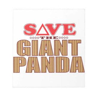 Giant Panda Save Notepad
