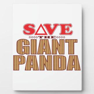 Giant Panda Save Plaque