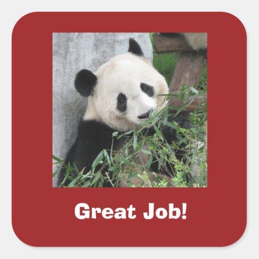 Giant Panda Stickers, Teacher, Great Job!