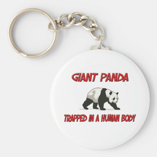 Giant Panda trapped in a human body Key Chains