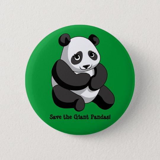 Giant Pandas 6 Cm Round Badge