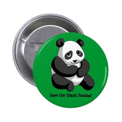 Giant Pandas Pinback Buttons