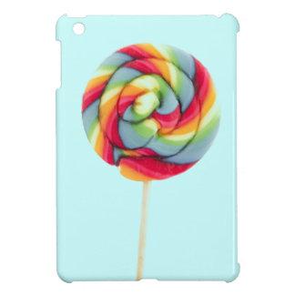 Giant pastel rainbow candy lollipop iPad MINI case