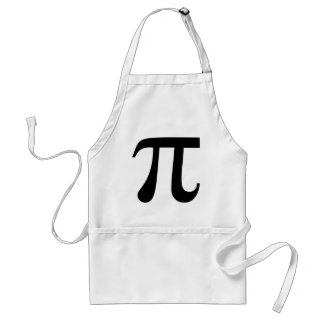 "Giant ""Pi"" Symbol Aprons"