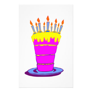 Giant Pink Birthday Cake 14 Cm X 21.5 Cm Flyer