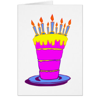 Giant Pink Birthday Cake Card