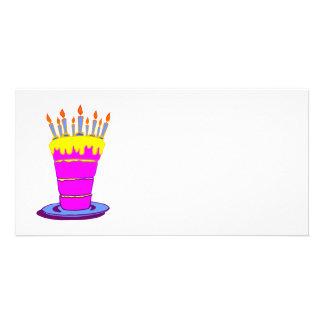 Giant Pink Birthday Cake Photo Greeting Card