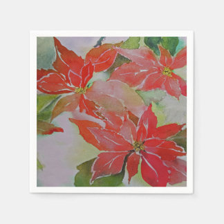 Giant Poinsettias for the Holidays Disposable Serviettes