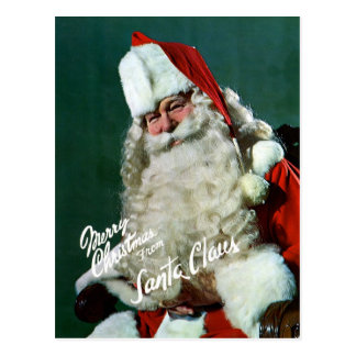 Giant-Post Card - Merry Christmas from Santa Postcard