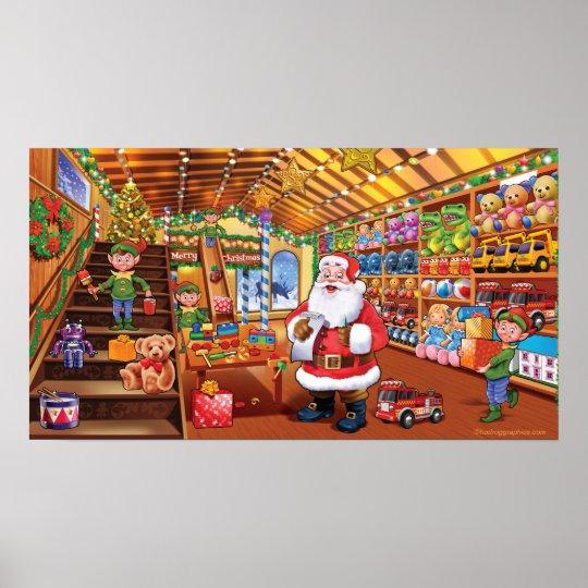 Giant poster, Santa's Workshop christmas fun magic Poster