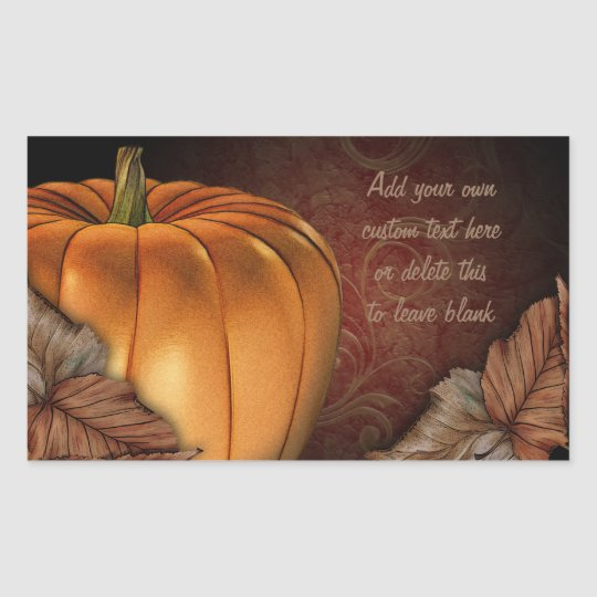 Giant Pumpkin Personalised Stickers