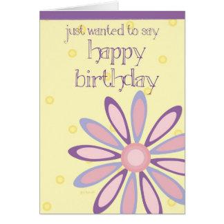 Giant Purple Daisy Birthday Card