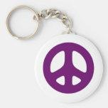Giant Purple Peace Sign Key Chain