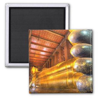 Giant reclining Buddha inside temple, Wat Pho, Magnet