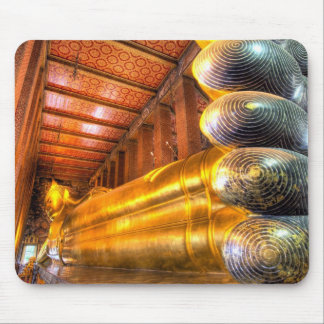 Giant reclining Buddha inside temple, Wat Pho, Mouse Pad