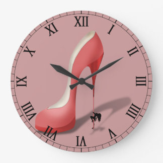 Giant Red Stiletto Cartoon - Pole Dancing Stripper Clocks