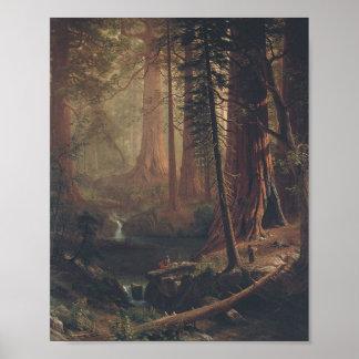 Giant Redwoods by Albert Bierstadt Poster