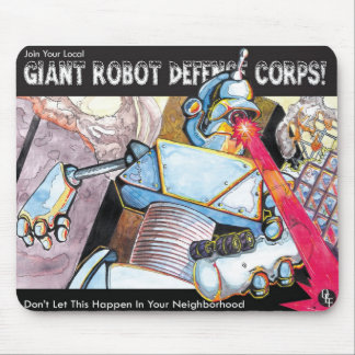 Giant Robot Defense Force Mouse Pad