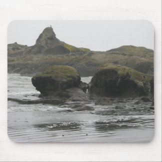 Giant Rocks on Shore Mouse Pad
