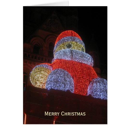 Giant Santa Claus, Christmas Market, Manchester -2 Card