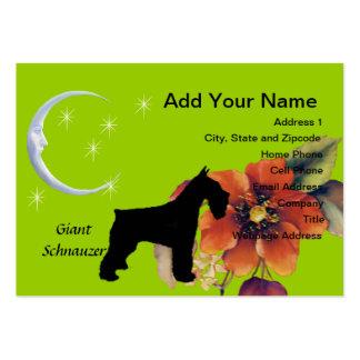 Giant Schnauzer - Autumn Flower Design Business Card Templates