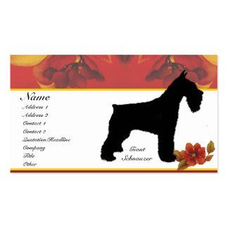 Giant Schnauzer - Autumn Flower Design Business Cards