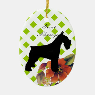 Giant Schnauzer - Autumn Flower Design Christmas Ornament