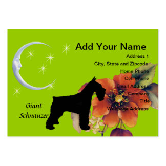 Giant Schnauzer - Autumn Flower Design Pack Of Chubby Business Cards