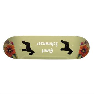 Giant Schnauzer - Autumn Flower Design Skate Board Decks
